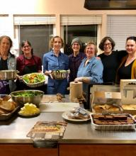 The team for ETD's first project - serving dinner at Jean's Place women's shelter on Dec. 30, 2018